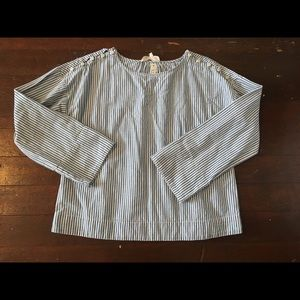 Madewell striped top. Cropped. XS.